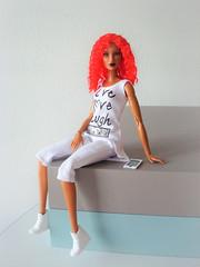 Dominique (Deejay Bafaroy) Tags: fashion royalty fr integrity toys doll puppe barbie dominique head kopf mtmbody wig perücke cultedeparis portrait porträt black schwarz red rot white weiss redhead