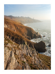 Hazy Mornings (Rich Walker Photography) Tags: devon coast coasline coastal sea ocean haze morning cliffs lighthouse lighthouses landscape landscapes landscapephotography seascape seascapes canon england efs1585mmisusm eos eos80d