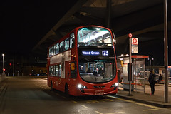 Arriva London VLW908 (BN61MXX) on Route 123 (hassaanhc) Tags: arriva arrivalondon arrivagroup wrightbus volvo b9tl