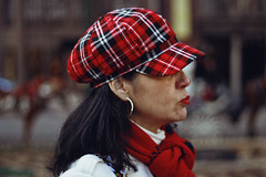 Mama (TheJennire) Tags: photography fotografia foto photo canon camera camara colours colores cores light luz young tumblr indie teen adolescentcontent red hat plaid 2018 chicago illinois winter people portrait mom makeup closeup usa eua unitedstates