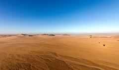 Balloon Shadows (Over Namib Desert) (Trouvaille Blue) Tags: africa namivbia namibdesert sossusvlei mountains desert fairycircles trouvailleblue hotairballoon balloon shadows
