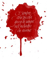 Quote: Hermann Zapf.  Calligraphy: Chiara Riva #calligraphy #italic #italicvariations #inchiostro #red #redisthenewblack