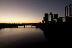Lady Bird Lake at Sunset (Austin, Texas) (joncutrer) Tags: atx texas austin austintexas lake sunset water river buildings bridge downtown downtownaustin