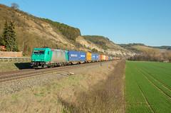 Railtraxx 185 609, Karlstadt (Sander Brands) Tags: trein treni train treno trenuri trenuro traktion traxx rail railfanning railtraxx 185 po maintal maindal strecke spotten shuttle sun sky nikon d7000