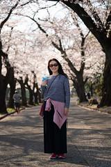 Yuri and flowers (Big Ben in Japan) Tags: yuri cemetery cherrryblossoms hanami japan kawasaki midorigaokareien sakura tudayama
