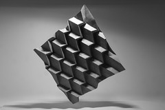 Abstract Origami 1 (Récard) Tags: blackandwhite sw bw abstract origami lightandshadow paperfolding paper geometry folding