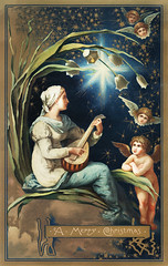 Christmas design with angels (Free Public Domain Illustrations by rawpixel) Tags: pdproject20batch44 pdproject22 vector pdproject20batch44x adult angel antique art arts artwork card cherub cherubs christmas decor decoration design drawing feminine femininity historic historical history holy illustration magical moon music mystical one painting peace peaceful peasant people play print publicdomain pure religious retro saint stars tranquil vintage woman women xmas