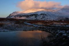 Esja (Freyja H.) Tags: iceland reykjavík esja winter cloud reflecion waterfall