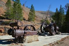 Air Compressor Plant - Mammoth Consolidated Mine (simbajak) Tags: mine mining caifornia mammoth equipment compressor rusty rust metal junk trees pine air