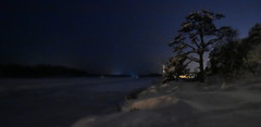 Winter wonderland. (Papa Razzi1) Tags: nikond7200 night winter february light blue sweden 2019