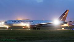 N376AX 767 Omni Air (Anhedral) Tags: einn snn shannonairport airliner airplane jet n376ax boeing 767 767300er oax omniairinternational night