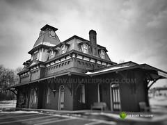 North Bennington Station (john bulmer) Tags: blackandwhite buskirk newyork bennington vermont travel contrast johnbulmerphotography