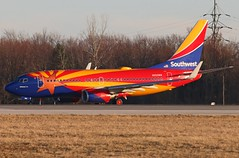 "N955WN Southwest ""Arizona One"" 737-7H4W at KCLE (GeorgeM757) Tags: n955wn arizonaone 7377h4 aircraft aviation airplane airport boeing 737 kcle clevelandhopkins georgem757 canon70d"