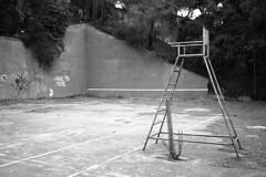(analogicmoment) Tags: 35mm analogphotography filmphotography blackandwhite bw kodaktrix400 pushedfilm homedeveloped kodakhc110b yashicataf pointandshoot abandoned tennis keepfilmalive ishootfilm buyfilmnotmegapixels filmisnotdead