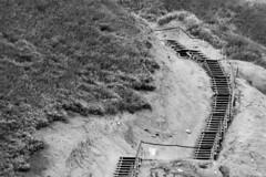 stairway to (ToDoe) Tags: stairs downstairs upstairs stufen treppe holztreppe aufstieg abstieg kurve bw monochrome schwarzweis schwarzweiss