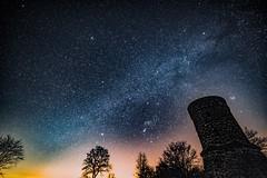 Stargazing (clemensgilles) Tags: plejaden orion sterne sternenhimmel astrophotography turm vulkaneifel starlight stargazing astrophotographers astrofotographie nightphotography nachtfotografie night longexposure deutschland eifel germany beautiful