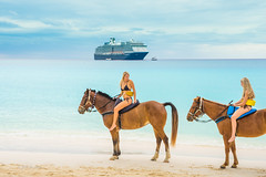 Girls in Paradise (幻影留梦) Tags: half moon cruise ship boat vacation trip florida cay bahamas ocean south america sony sel24105g fe 24105mm f4 g oss horse riding girl laugh cloud blue breeze caribbean paradise tour travel holland line nieuw amsterdam zuiderdam