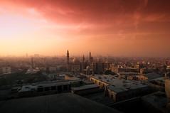 Old Cairo (Ahmed Nabiel) Tags: colors sun sunset cairo explorer explore egypt d300 best memory red yellow blue mosque old photo photography wide