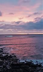 North Sea Sunrise - St. Mary's Island (Gilli8888) Tags: whitleybay coast coastal coastline northsea northeast cameraphone samsung s7 sky clouds sea water marine stmaryslighthouse stmarysisland dawn rocks sunrise