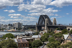 sydney town (Greg Rohan) Tags: trees lunapark northsydney water clouds sky nsw australia architecture houses house sydneyharbourbridge harbourbridge oldsydneytown rocks bring city d750 nikkor nikon 2017
