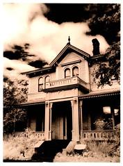 Emily Carr House, Victoria BC (Isosceles Diego) Tags: lith victoria britishcolumbia emilycarr mamiya645 infrared