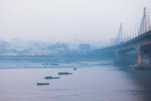 Fog over Karnaphuli river