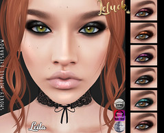 [LeLuck]Smokey-Metall Eyeshadow Leila (Sunkora) Tags: darknessevent thedarkness event eyeshadow genus omega catwa applier leluck new