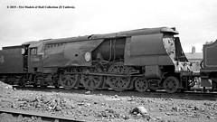 c.1963 - Eastleigh Works, Hampshire. (53A Models) Tags: britishrailways southernrailway bulleid battleofbritain bb 462 34061 73squadron steam eastleigh hampshire train railway locomotive railroad
