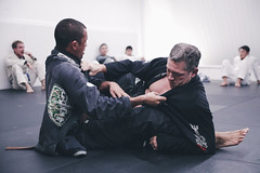 Locked UP (Corey Rothwell) Tags: jiu jitsu hawaii fighting gi grips hands floor dojo bjj wrestling oahu honolulu