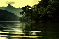 Ba Be Lake Morning (Rod Waddington) Tags: asia north vietnam ba be national park lake water morning reflection mountains sunrise trees jungle happyplanet asiafavorites