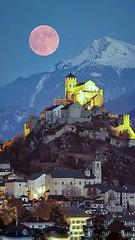 Schweiz - SION - Panorama, Full Moon (monte-leone) Tags: sion panorama schweiz switzerland