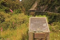 Otira Gorge Rock Shelter & Reid Falls Aqueduct, Otira Highway, Arthur's Pass National Park, Westland, South Island, New Zealand (Black Diamond Images) Tags: otiragorgerockshelter otiragorge otirariver rockshelter otirahighway westland arthurspassnationalpark otirarivergorge arthurspass southisland newzealand arthurspassnz nz nztravel nz2015 greatalpineway arthurspasstohokitika otiradistrict otira candysbend creek sign interpretivesign plaque reidfallsaqueduct river gorge foxglove digitalispurpurea avalancheshelter