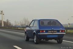 1977 Opel Kadett City (NielsdeWit) Tags: nielsdewit car vehicle carspot highway snelweg a12 88px99 opel kadett c city blue driving