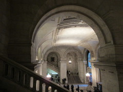 New York Public Library Entrance Hall Lobby 3636 (Brechtbug) Tags: new york public library entrance hall lobby 5th ave facade city interior stairs staircase stone marble 2019 nyc 03122019 art architecture designed by artist sculptor paul wayland bartlett carved the piccirilli brothers was two lions main branch stephen a schwarzman building consolidation astor lenox libraries beaux arts design style