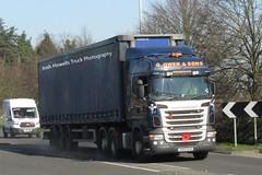 G Owen DX12 BJO at Welshpool (Joshhowells27) Tags: lorry truck scania r480 scaniar480 curtainsider newtown gowen dx12bjo
