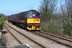 WCR BLS 1Z87 'The Ruby Vampire - 2nd Bite' railtour approaches Heswall Hills Station 24th  March 2019 with BRCW Crompton Type 3 No. 33029© (steamdriver12) Tags: wcr bls 1z87 the ruby vampire 2nd bite railtour station 24th march 2019 brcw crompton type 3 no branch line society west coast railways england diesel electric heritage traction heswall hills cheshire