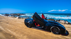 The Vette (alessio.vallero) Tags: pacificgrove california unitedstatesofamerica us corvette chevrolet supercar ocean sky sport horizon coastline view monterey car seascape