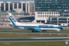 N277EA_20190413_49956_M (Black Labrador13) Tags: n277ea boeing 737 b737 737800 7378cx smartwings bru ebbr avion plane aircraft vliegtuig airliners civil