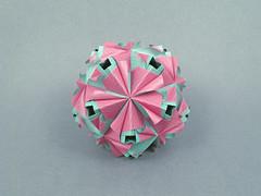 Eugenia (masha_losk) Tags: kusudama кусудама origamiwork origamiart foliage origami paper paperfolding modularorigami unitorigami модульноеоригами оригами бумага folded symmetry design handmade art