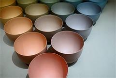 the famous bowls.. (leuntje) Tags: rotterdam museum boijmansvanbeuningen art geertlap bowls colourtrianglemadefrom21bowls