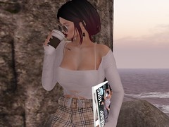 morning coffee (Tympany) Tags: kunglers lelutka chloe axis bento anaposes coffee sunglasses zoom ysys osmia lazybones wasabipills secondlife maitreya enfersombre magazines fashion blog
