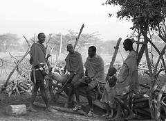 Life in a traditional Masaï village - South Rift Valley - Kenya (lotusblancphotography) Tags: africa afrique kenya people gens travel voyage monochrome blackandwhite masaï