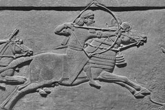 Royal Iconography (1) (Phancurio) Tags: art sculpture assyria irak ashurbanipal museum london propaganda monochrome hunting lion