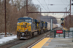 CSXT Q410 @ Yardley, PA (Darryl Rule's Photography) Tags: 2018 aestaley buckscounty cpdq csx csxt clouds cloudy conrail conrailsharedassets dq dairyqueen delmorrave diesel diesels emd eastbound edgewoodrd freight freightcar freighttrain freighttrains gp402 inbound january mor1 mixedfreight morrisville ns norfolksouthern oldline prr pennsy pennsylvania pennsylvaniaave q158 q410 qa29 qa296 railroad railroads regionalrail sd70ace septa signal signals snow snowy staley staleylocal station streetrunning tollbrothers train trains trentonsub westtrentonline westbound winter ypmor12019 yardley