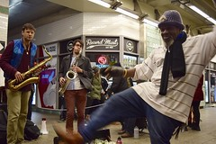 (-»james•stave«-) Tags: newyork nyc music jazz blues groove people man dancemove street subway recordmart alexlodicoensemble nikon d5300