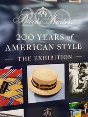 200 Years Of American Style (Joe Shlabotnik) Tags: cameraphone 2018 deerpark brooksbrothers tanger hat boater sign galaxys9 august2018