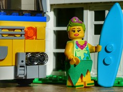 Surfer girl (sander_sloots) Tags: lego surf board girl surfplank surfing surfen hulalula hula lula minifig series toy speelgoed minifiguur van house huis bricks stenen lumix panasonic dctz90