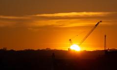Sunset 15 Feb 2019 (Sculptor Lil) Tags: cranes london sunset canon700d