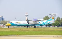 Nok Air HS-DQH Bombardier Dash 8 Q400 (Kan_Rattaphol) Tags: nokair nokairlines dd bombardier dash8 q400 hsdqh aircraft airplane airlines dmk vtbd