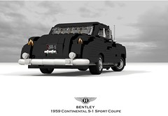 Bentley 1959 S-1 Continental Sport Coupe (lego911) Tags: bentley s1 continental sport coupe 1959 1950s classic park ward coachbuilt uk gb british luxury auto car moc model miniland lego lego911 ldd render cad povray afol